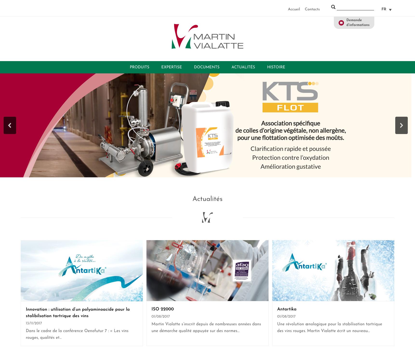 Sito Martin Vialatte Home Page