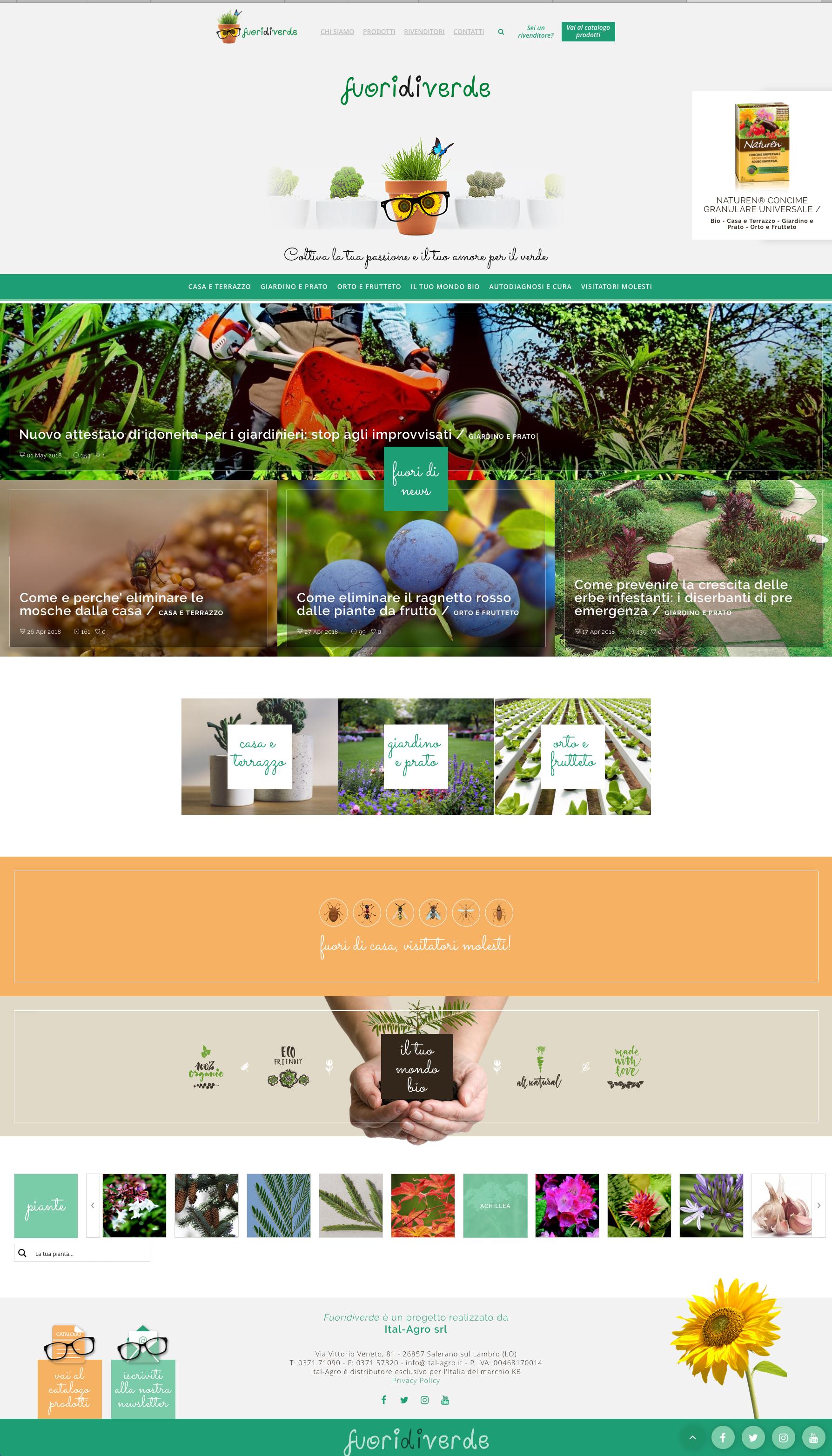 Sbarca Online Fuoridiverde, Il Nuovo Sito Di Ital-Agro Dedicato Al Giardinaggio